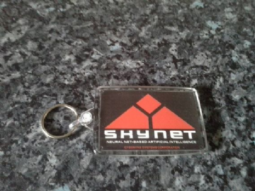 Skynet Logo Jumbo Keyring. Inspired by The Terminator. Cult Sci Fi
